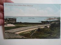 Vintage Postcard THE HARBOUR FROM SOLDIERS POINT, HOLYHEAD Franked+Stamped 1910