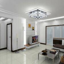 Crystal Ceiling Light LED Pendant Lamp Flush Mount Chandelier Ceiling Lamp US EK