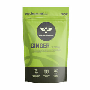 Ginger Root Extra 3000mg 180 Tablets Vegan Digestion, Nausea Sickness Supplement