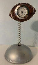 Minature Football Clock- Item Is Clean And Works Great