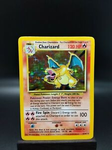 Charizard Holo Base Set 4/102 LP Condition See All Photos!