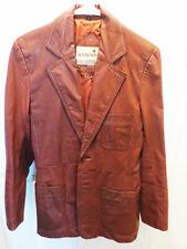 Vintage 70's Geronimo Men's Leather Jacket blazer sz 36-38 small