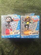 "DC Super Hero Girls 3"" Lot Of 2 Mini Figures - BUMBLEBEE AND KATANA NEW"