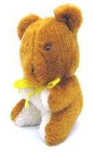 "Gerber Products Vintage 6.5"" tall Teddy Bear w/ Yellow Ribbon Taiwan"