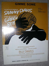 1964 GIMME SOME Sheet Music SAMMY DAVIS by Strouse, Adams from GOLDEN BOY
