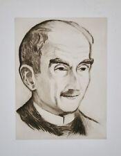 Rafaël SCHWARTZ - Estampe originale - Eau-forte - Henri Bergson