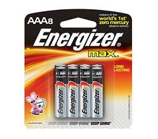 Energizer Max Alkaline Aaa Batteries 8 Each (Pack of 3)