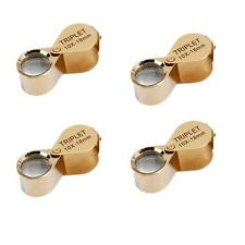 4PCS 10x 18mm Lens Glass Loop Magnifier Jeweler Repair Loupe Magnifying Glass