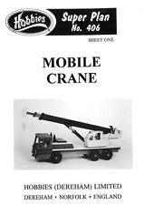 Hobbies Plans To Make A Model Crane P406