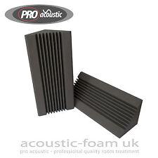2x AFBT02 Pro Acoustic Foam 3ft (915mm) Bass Traps Studio Sound Room Treatment