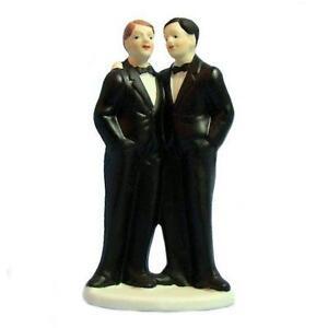 Gay Men Wedding Cake Toppers Same Sex Marriage Gay Pride