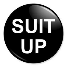 "Suit Up 25mm 1"" Pin Badge Button Barney Stinson How I Met Your Mother Suits"