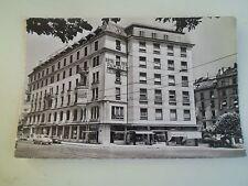 Vintage Real Photo Postcard L'Hotel Des Familles 7287 Geneva Switzerland 1962