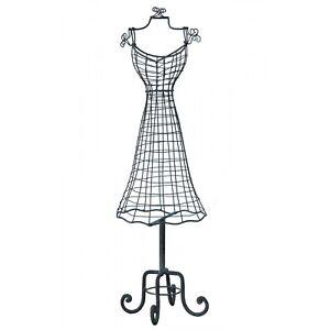 Vintage Style Grey Black Metal Jewellery Accessories Stand Display Mannequin