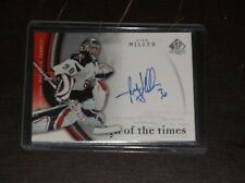 2005-06 UPPER DECK SP RYAN MILLER SIGN OF THE TIMES AUTOGRAPHED HOCKEY CARD
