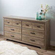 South Shore Versa 6-Drawer Double Dresser, Weathered Oak Finish 9066010 New