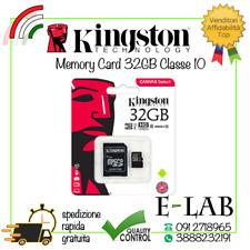 MICRO SD KINGSTON ORIGINALE 32 GB CLASSE 10 80 MB/S SCHEDA MEMORIA MEMORY CARD