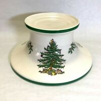 Spode Christmas Tree Pillar Candle Pedestal Holder Stand. Made In England. EUC!