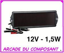 1 PANNEAU SOLAIRE 125mA 12V MAINTIEN DE CHARGE (ref 32001-1) poids 1,300Kg