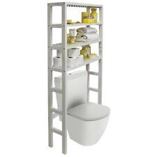 Over Toilet Bathroom Storage Unit with 4 Shelves - White BA1850