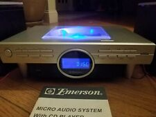 Emerson ES769 Executive Micro Stereo System CD Player AM FM Radio w/Remote VTG