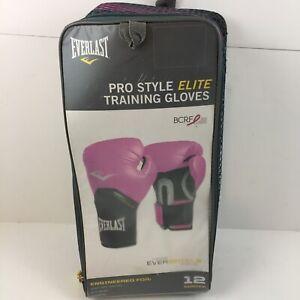 Everlast Women's Pro Style ELITE Training Boxing Gloves 12 OZ Pink Sparring Bag