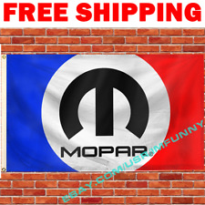 Mopar Logo Banner Flag 3x5 ft Racing Car Show Garage Wall Decor Sign Gift NEW