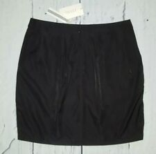 TULLE Scalloped Embroidered Classic Black Career Skirt Size L Large Interview