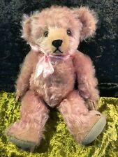 ANTIQUE GENUINE JOPI PINK HELVETIC MUSICAL JOSEF PITRMANN TEDDY BEAR GERMAN