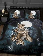 GOTHIC ALCHEMY EMO FULL MOON WEREWOLF IN CHAINS SINGLE BED DUVET COVER BED SET