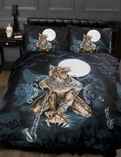 Alchimie Gothique Emo pleine lune loup-garou en chaînes lit simple housse de couette bed set