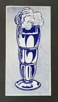 """Roy Lichtenstein """"Ice Cream Soda"""" Mounted off-set Color Lithograph 1971"""