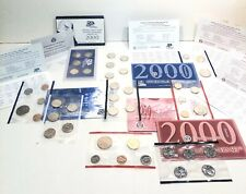 1999 And 2000 Uncirculated Coin Sets PLUS 2000 USA 50 State Quarter Set w/ cred.