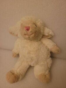 "First Impressions Lamb Sheep 12"" Plush White Cream Pink Nose RARE Macy's"