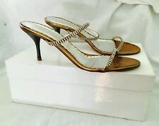 Sandali PITTI ORO DORATE STRASS Scarpe Aperte Elegante n. 39