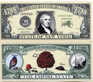 The United States of America State of New York Novelty Note The Empire State
