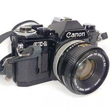 Canon AE-1 Program 35mm Black w/ FD 50mm fd 1:1.8 Canon Lens Japan Excellent