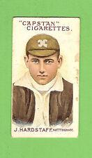 #D71. AUSTRALIAN & ENGLISH  CRICKETERS CIGARETTE CARD 1908  #69 J. HARDSTAFF