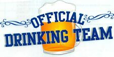 Iron-On T-Shirt Fabric Transfer Official Drinking Team Beer Party Fun Craft Mug