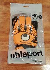 NEW! UHLSPORT STARTER RESIST Right Hand Goalkeeper Glove Orange Black, Sz 8