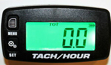 New Tach Hour Meter Tachometer RPM Gauge Lighted Display ATV PWC Outboard