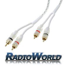 Rca / Phono Plomo / Cable 1m coche Amp / Amplificador Blindado