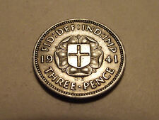 #2547 Great Britain; Three Pence 1941 Silver