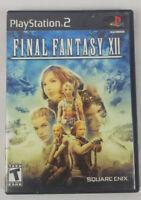 Final Fantasy XII 12 Sony PlayStation 2 2006 Original Black Label Complete