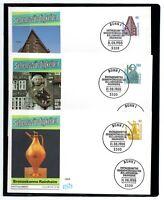 Alemania / Germany /3 Sobres Primer Día - FDC año 1988