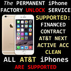 AT&T iPHONE FACTORY UNLOCK CODE SERVICE 100% GUARANTEE - CONTRACT NEXT FINANCED