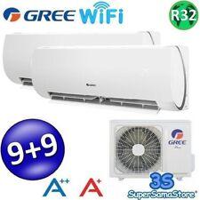 3S CLIMATIZZATORE DUAL SPLIT 9+9 wifi R32 GREE ARGO CONDIZIONATORE CLASSE A++ A+