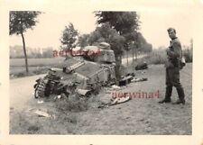 Zerstörte franz. Panzer Char S35 SOMUA bei Calais Frankreich
