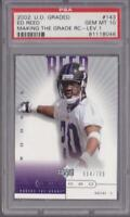 ED REED RC 2002 UD GRADED MAKING THE GRADE ROOKIE #/700 PSA 10 GRADED GEM MINT