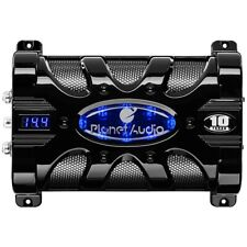 Planet Audio Pc10F 10 Farad Capacitor Digital Voltage Display Blue Illumination